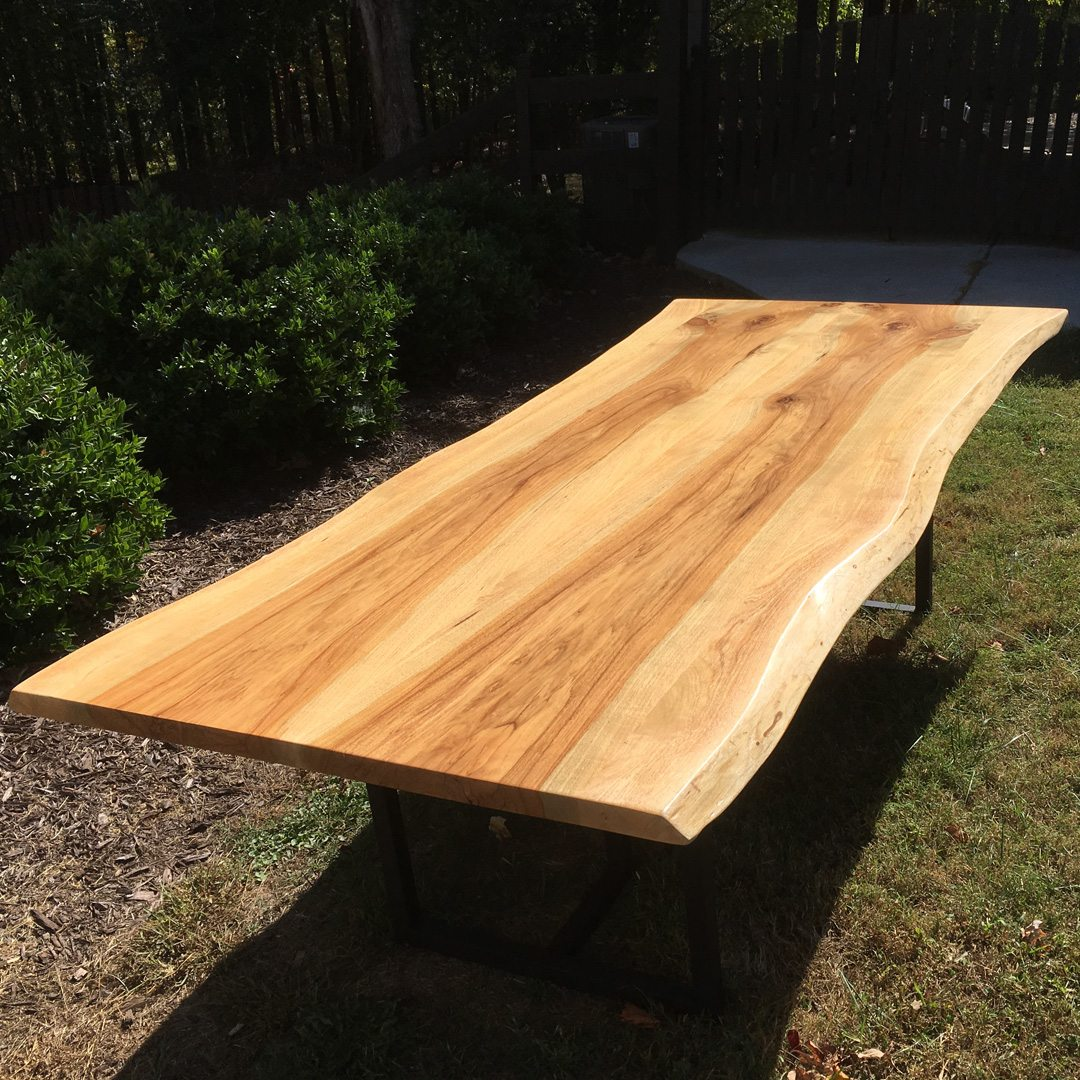 Live Edge Pecan Wood Table Horizon Home Furniture