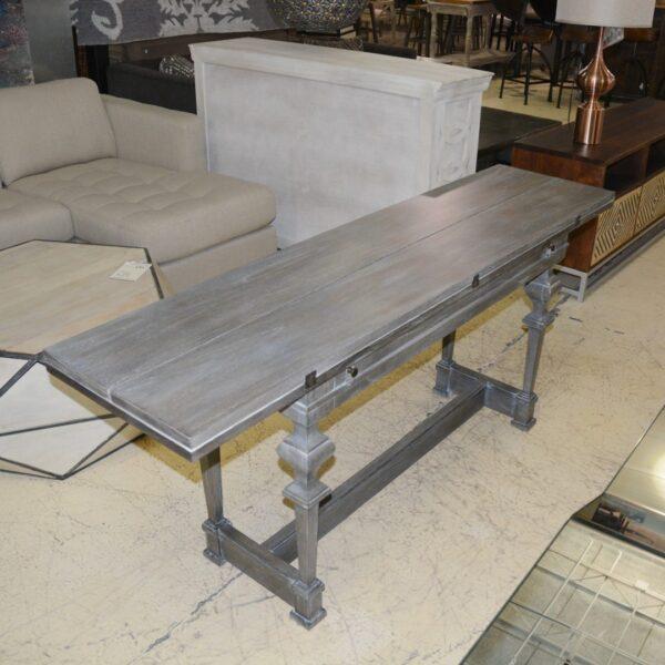 Carolina leaf table wood w/ metal stand