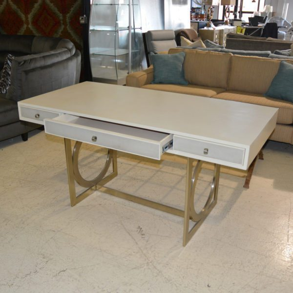 contemporary cream and gold designer brand desk