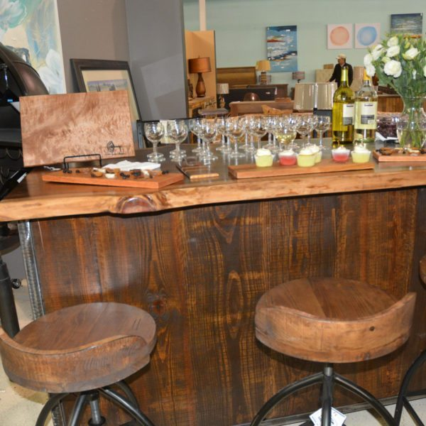 Wood Custom Made Live Edge Bar