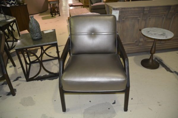 Zenon bronze leather chair