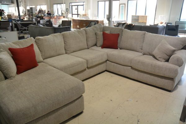 Tan tufted Riley Sectional