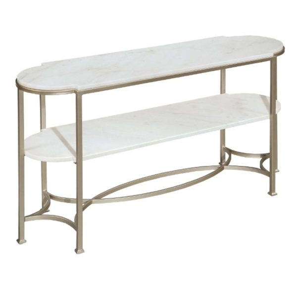 Laurel white marble console table