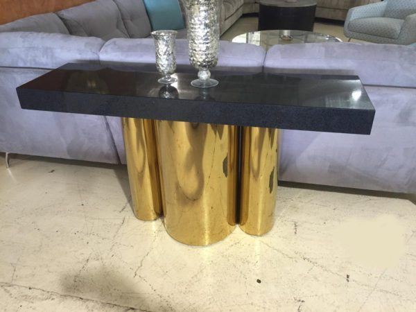 Stone and Gold Console