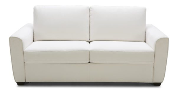 Kolekted Home White Leather Sleeper Sofa
