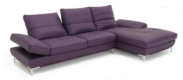 Kolketed home 1307 Eggplant Leather Sofa