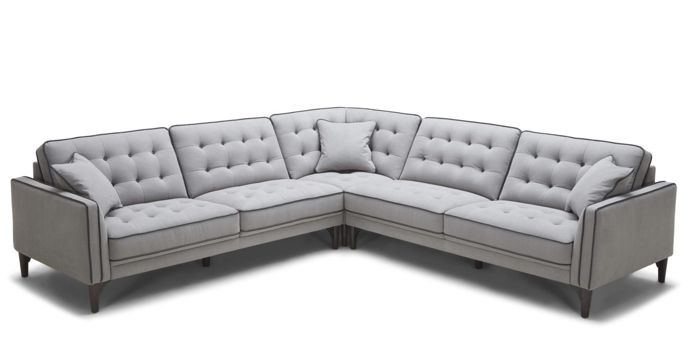 Kolekted Home Troy Sectional Sofa Horizon Home Furniture