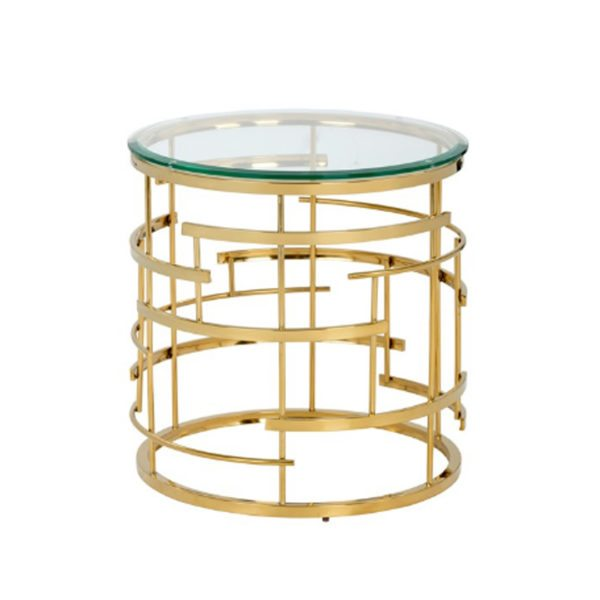 Art Deco Dining Glass End Table