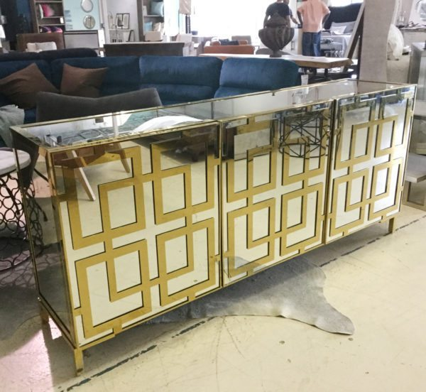 Bernhardt Gold Luxe Mirrored Sideboard 1000