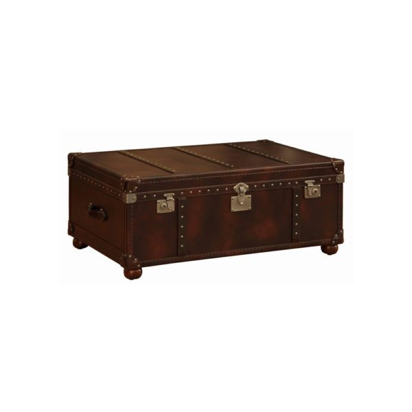 Lazzaro Brown Leather Trunk web1000
