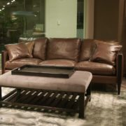 Danello Leather Bomber Brown Sofa