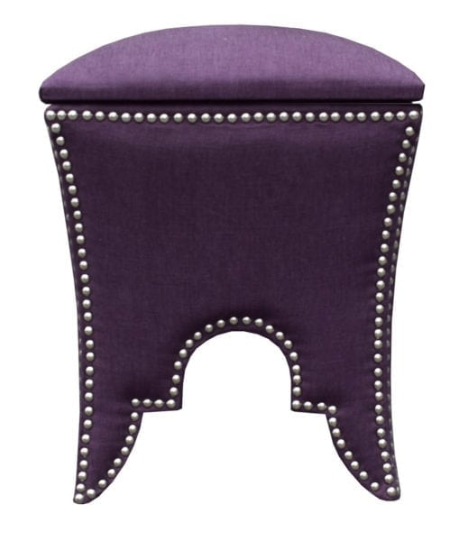 Royal Purple Ottoman