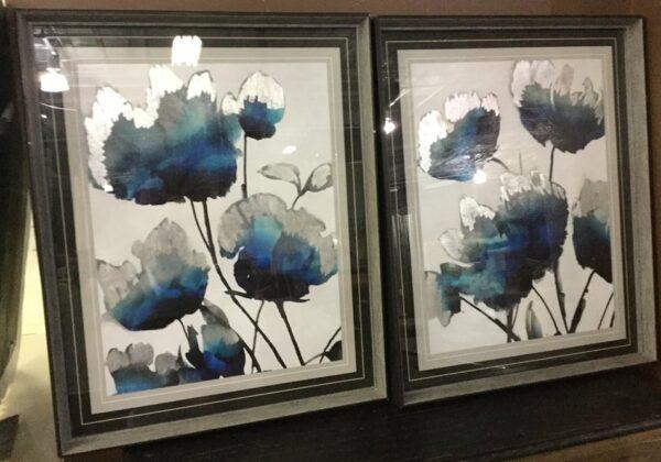 flor azul art