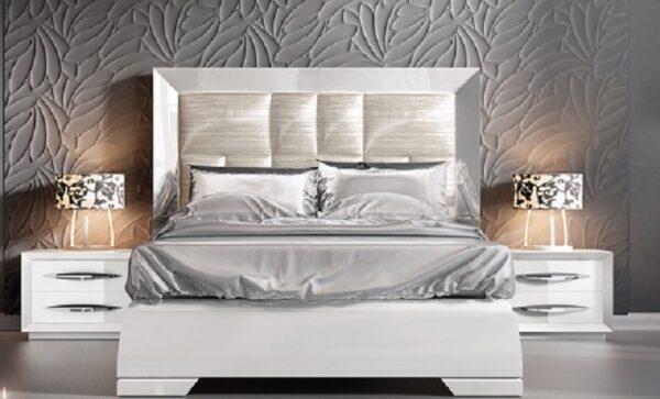 es-Cameron White Bed