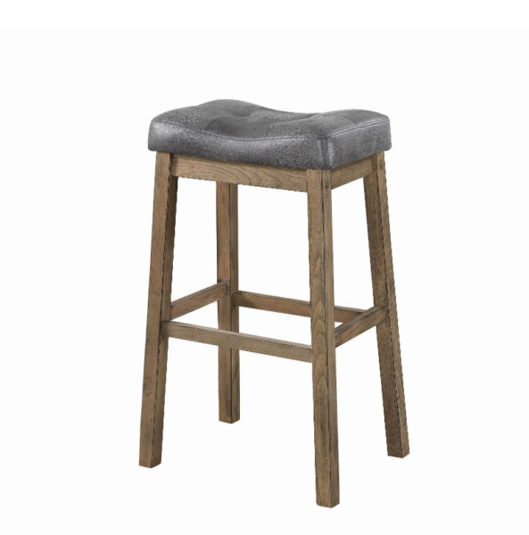 Grey Antique Classic Backless Barstool