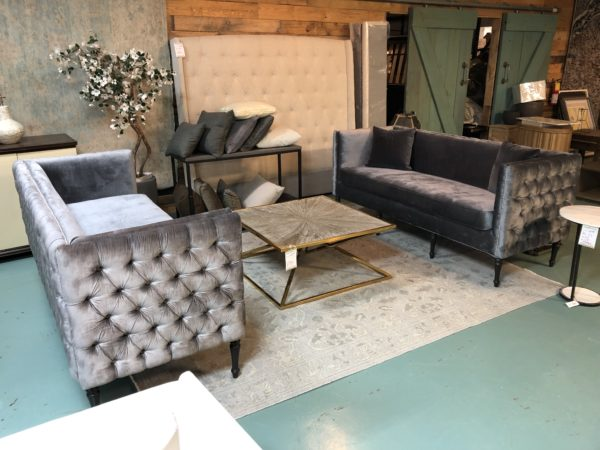 Grey Charlotte Tufted Sofas