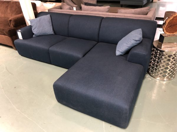 Pilano Dark Grey Sectional Sofa