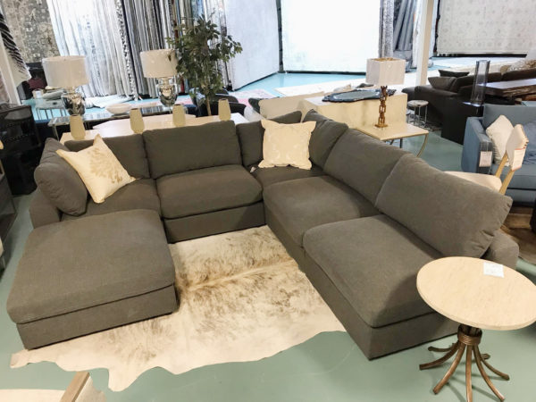 Kolekted Home Ashton Grey Sectional Sofa