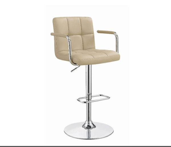 Piedmont Beige w Chrome Adjustable Barstool C121106