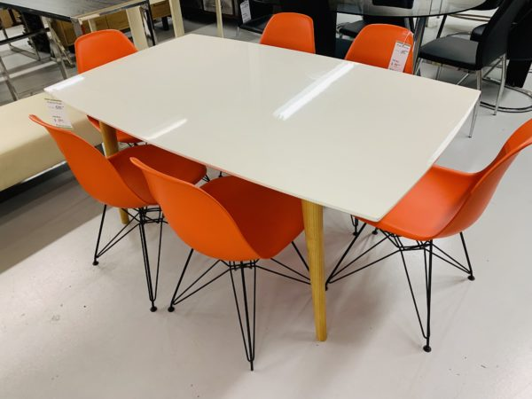 Glossy White Renault Table