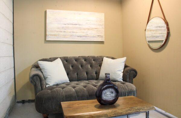 Velvet Studded Sofa